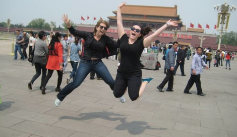Silly tourists, Tiananmen Square and the Forbidden City.