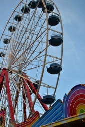 The Ferris wheel on the Ocean City pier offers breathtaking views of the city and ocean.