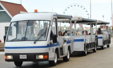 It costs $3 to ride the tram on Ocean City's Boardwalk.