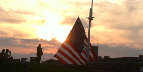 Stick around for the lowering of the flag at dusk. It is a moving sight.