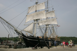 The Charles W. Morgan was launched on July 21 in Mystic.