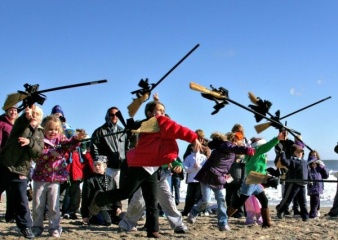 What would Rehobth's Sea Witch Festival be without a broom toss?