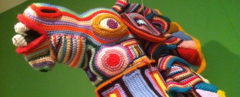 "Deborah Claire Berger's ""Hobby Horse"" is crocheted."