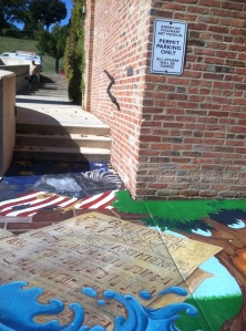 Even the sidewalks outside of the American Visionary Art Museum are covered with art.