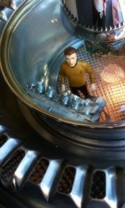 A detail from Steve Heller's Star Trek Flying Saucer.