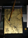 Among the objects on display (including jets, helicopters and other big stuff) are important little things, like this Jet pilot's map from World War II.