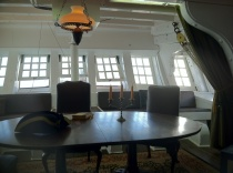 "Can't you just imagine Captain Aubrey (Russell Crowe) sitting in his quarters here in ""Master and Commander?"""