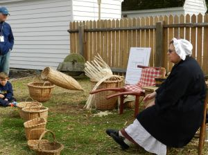 Other artisans worked on the site as well, including basketweavers and coopers.