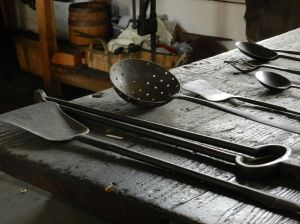 When they weren't working on armaments, the blacksmith made household objects.