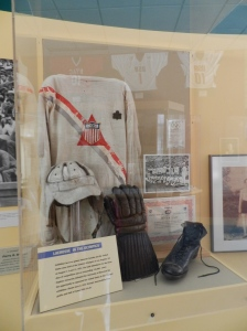 Briefly, in 1904 and 1908, lacrosse was an Olympic sport. It reappeared as an exhibition sport in 1932. A team uniform is on display at the Lacrosse Museum.