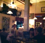 Croce's dining room has two levels and is located next to the bar where musicians perform nightly.