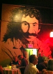 A mural of Jim Croce in the bar.