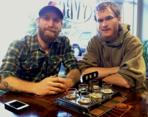 Tom Wilder and Neil McCanon, young veterans and pretty new brewers, too.