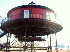 The Seven-Foot Knoll Lighthouse.