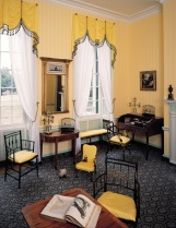 Toys on the floor of the back parlor remind visitors that Charles' and Harriett's children lived here.