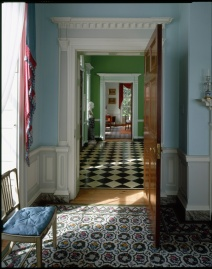 A soft palette of colors was used on the walls of Homewood.