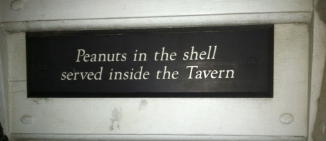 A warning or an enticement — depending on your tastes or allergies — at Chowning's Tavern.