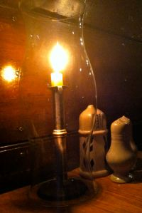 Candlelight adds to the historical fun at Chowning's.