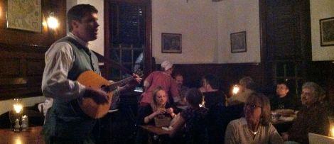 A beer, peanuts and song: gambols at Chowning's Tavern.