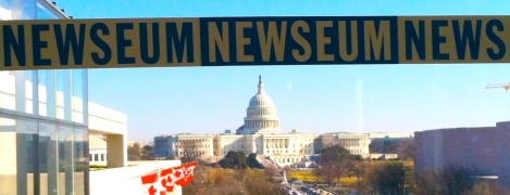 You'll get a good view of the Capitol and Pennsylvania Avenue from the terrace at the Newseum.