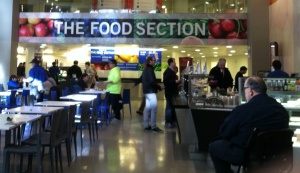 Hungry? Turn to the food section on the Newseum's lower level.