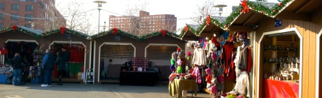 The Christmas Village in Baltimore's Inner Harbor