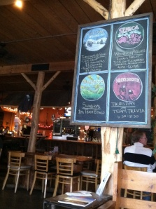 Welcome to Mountain State Brewing in Deep Creek Lake. I get the feeling they want you to stay for a while.
