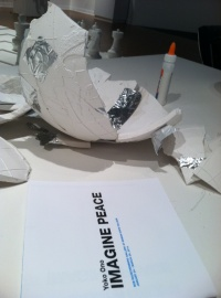 What would you use to glue the globe back together. Elmers glue and duct tape are two options.