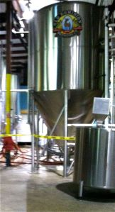 On the way to getting my tasting tickets, I got a glimpse of the mammoth tanks filled with malty goodness.
