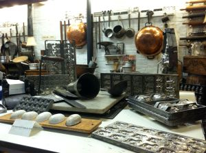 Old-fashioned chocolate making equipment is on display at the Candy Americana Museum just past the shop.