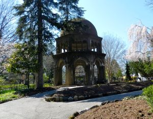 In the garden, you'll find a replica of the octagonal shrine to the Ascension as seen in Israel.