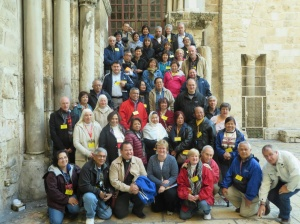 The group of Holy Land pilgrims my sisters and brothers-in-law joined last November.