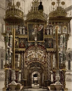 The Church of the Holy Sepulchre encloses the places of Jesus' crucifixion and burial