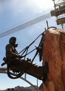 A tribute to the High Scaler, the worker with one of the most dangerous jobs on the Hoover Dam project. Sculptor Steven Liguori  created the statue.