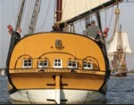 A yellow beauty, the Sultana calls Chestertown her home port.