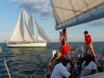 The Schooner Woodwind during Wednesday night races.