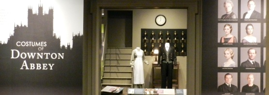 The exhibit starts downstairs in the servants' hall.