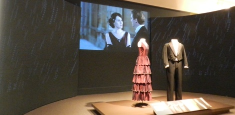 The display of the clothes Mary and Matthew wore when they agreed to marry is stunning. (Bring your lace-trimmed hanky.)