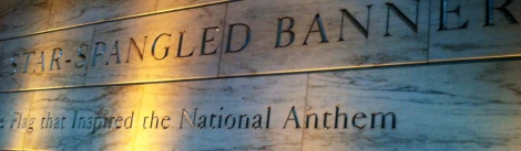 The Smithsonian Institution's entrance to the Star Spangled Banner exhibit.