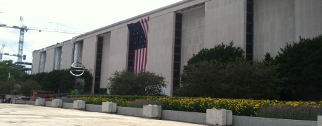 The entrance to the National Museum of American History on the Mall in Washington, D.C.