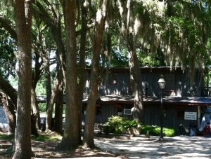 Trees hung with Spanish moss shade the tasting room at Firefly.