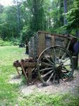 These old carts were used to haul raw materials up the ramp to the furnace.