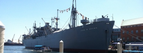 The SS John W. Brown, a World War II era Liberty Ship, has been restored by dedicated volunteers in Baltimore.