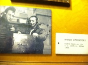 Photos around the ship pay tribute to the merchant marines and sailors who served aboard the Brown.