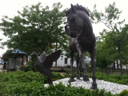 The sculpture by Brian Maughan  was installed in 2006, the 60th anniversary of the publication of Misty of Chincoteague.