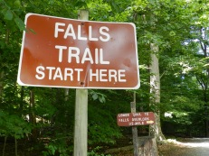 Two paths take lots of visitors to Cunningham Falls. One heads to the foot of the falls. The other, a little longer, goes to the top. I've never been there.
