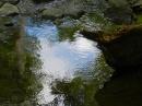 Cool, no cold!, shallow pools at the bottom of the falls beckon the wader.
