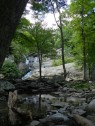 Clear pools form at the base of Cunningham Falls.