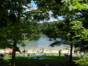 Cunningham Falls Lake is the other great reason for this trip. A place to picnic, swim, canoe or just enjoy the summer day.