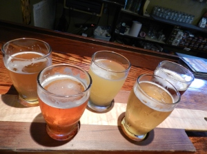 A sampling of Eastern Shore Brewing Company's colorful beers.
